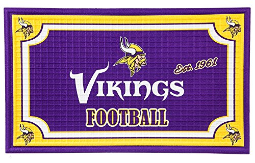 Team Sports America 41EM3817 Embossed Door Mat, Minnesota Vikings