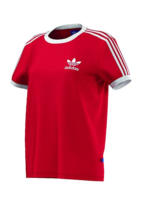 Adidas Camiseta para Mujer 3-Stripes, Mujer, 3-Stripes, Vivid Red
