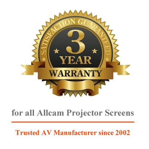 Allcam professional quality projection screen with 3 years industry leading warranty