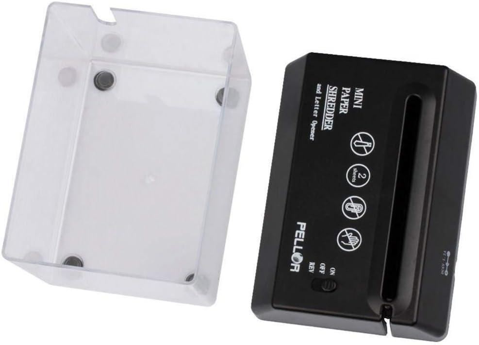 Leikance USB Electric Mini Shredder,Paper Strip-Cut Small USB Shredder with Letter Opener for Home Office