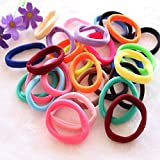 Bleaching Hair After Perm - 50 pcs lowest price Girl Elastic Hair Ties Band Rope Ponytail Bracelet (Multicolor)