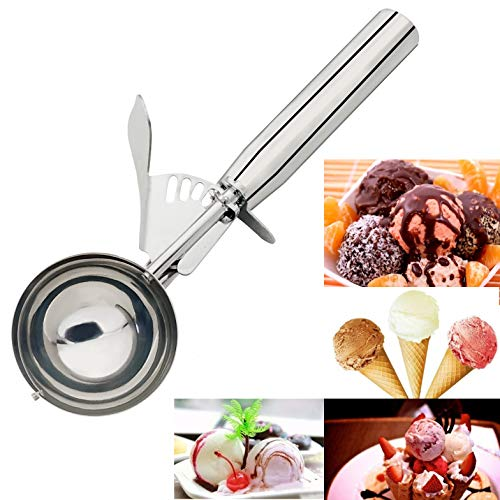 Large Ice Cream Scoop with Trigger, Large Cookie Scoop, 5.4 Tbsp/ 81ml/ 2.7 OZ, Perfect for Ice Cream, Cookie, Cupcake, Muffin, Pancake
