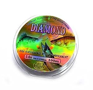 Diamond no 5 0 100m nylon monofilament for Amazon fishing line