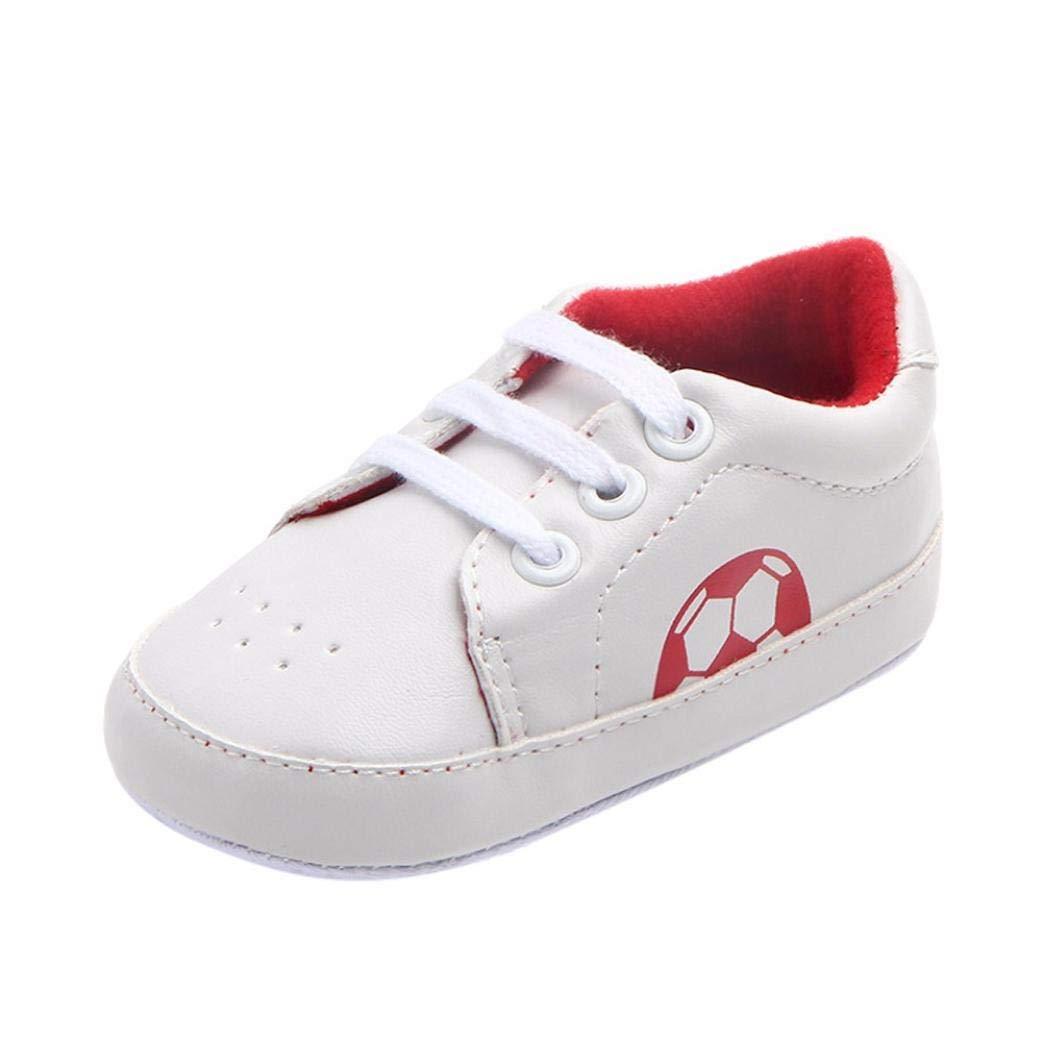 Robemon Nouveau-né Bébé Sneaker Anti-Slip Football Semelle Souple Toddler Chaussures