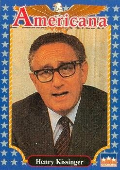 Henry Kissinger trading card (Statesman) 1992 Starline Americana #183 Autograph Warehouse