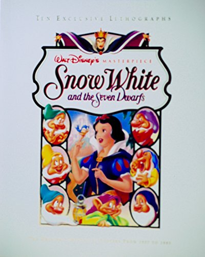 Original Rare Lithograph (1993 - Walt Disney's Masterpiece - Snow White and the Seven Dwarfs - 10 Exclusive Lithographs - Original Theatrical Posters From 1937 to 1993 - OOP - New - Mint - Rare - Collectible)