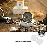 BleuMoo 1Pc Universal Mini Motorcycle Clock Watch