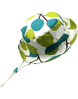 Toddler Sun Protection Bucket Hat 50+ SPF UV Protective Cartoon Hat for 0-10T