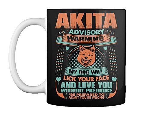 Advisory warning akita will lick face Mug - Teespring Mug