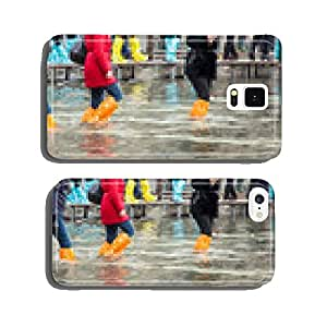 Close Up of legs with boots due to the high water in Venice. cell phone cover case Samsung S5