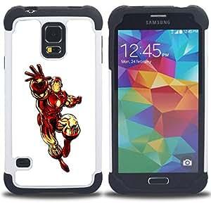 - The Iron Superhero/ H??brido 3in1 Deluxe Impreso duro Soft Alto Impacto caja de la armadura Defender - SHIMIN CAO - For Samsung Galaxy S5 I9600 G9009 G9008V