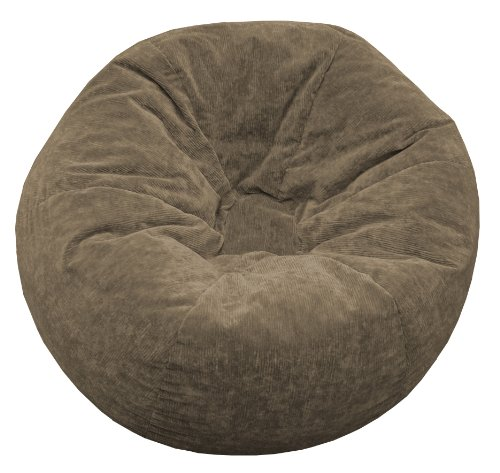 Gold Medal Bean Bags Micro-Fiber Suede Corduroy Bean Bag, XX-Large, Toast by Gold Medal Bean Bags