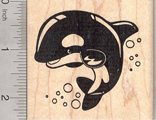 Killer Whale Rubber Stamp, Orca, Blackfish, Marine Wildlife