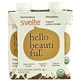 Svelte Protein Shake, Organic, Chocolate, 11 Fluid Ounce