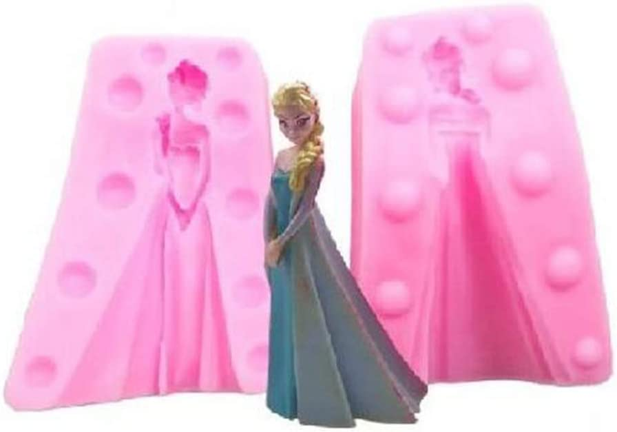 Disney Frozen ELSA Backform, Silikon, blau, 17 X 17 X 5.5 cm