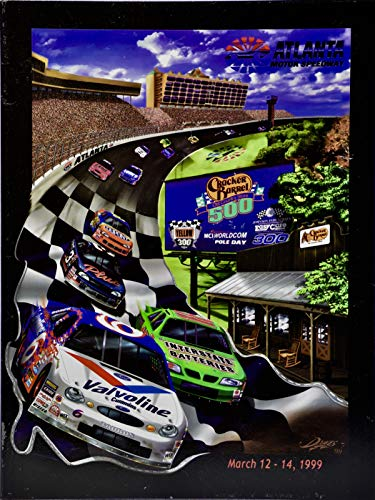 1999 - NASCAR/Atlanta Motor Speedway - Cracker Barrel 500 - Official Program - Plus Extras - Collectible - Rare
