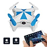 Mini FPV Drone Cheerson CX-OF, Optical Flow Sensor Dance Entertainment Selfie iOS/Android APP WiFi Remote Control Quadcopter with 0.3MP HD Camera by FidgetKit