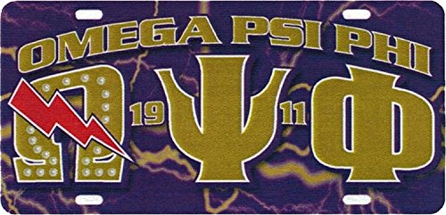 Cultural Exchange Omega Psi Phi Printed Graphic License Plate [Purple - Car/Truck]
