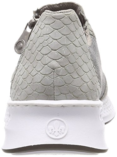 Gris dust Femme cement N5653 Sneakers Basses cement Rieker xwnqzB7a1a
