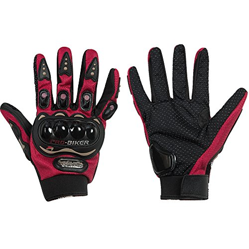 Full Finger Racing Gloves Powersports Motorcycle Training Outdoor Gloves XL Red