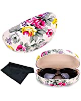 e2516d2974e Extra Large Sunglasses Case Hard Shell Light Weight With Cloth Unisex  Durable Protective Holder for Oversized
