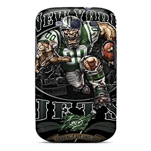 Durable Case For The Galaxy S3- Eco-friendly Retail Packaging(new York Jets)
