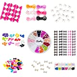 Premium Quality Nail Art 3D Decorations Set of Bow Ties In Different Colors And Designs With Rhinestones / Gems / Crystals By VAGA