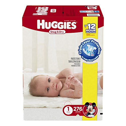 Huggies Snug & Dry Diapers, Size 1, 276 Count …