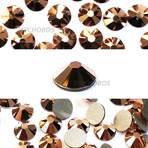 - 144 pcs Crystal Rose Gold (001 ROGL) Swarovski 2058 Xilion/ NEW 2088 Xirius 12ss Flat backs Rhinestones 3mm ss12