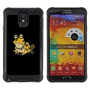 Be-Star único patrón Impacto Shock - Absorción y Anti-Arañazos Funda Carcasa Case Bumper Para SAMSUNG Galaxy Note 3 III / N9000 / N9005 ( Funny Hypnotic Frog Toad )