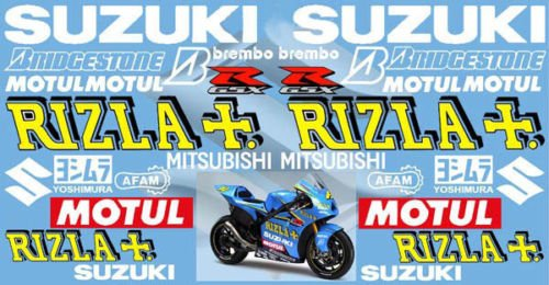 Suzuki Rizla Kit 30x Decal Sticker Motorcycle Bike Gsx R