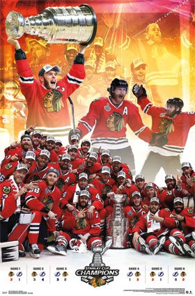 "Chicago Blackhawks NHL Poster / Print 22.5 X 34"" 2015 Stanley Cup Championship Celebration"