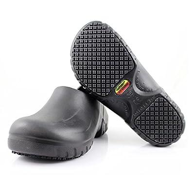 Atomic Unisex Slip Resistant Slip On Work Shoes Black Womens