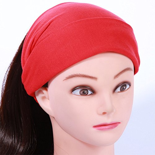 Simple Slip Size Headband Polykor Hair Color Personality Black 24cm Red Brimmed Sweet Band Wide Non Women's Headdress 5 18 6qBz0