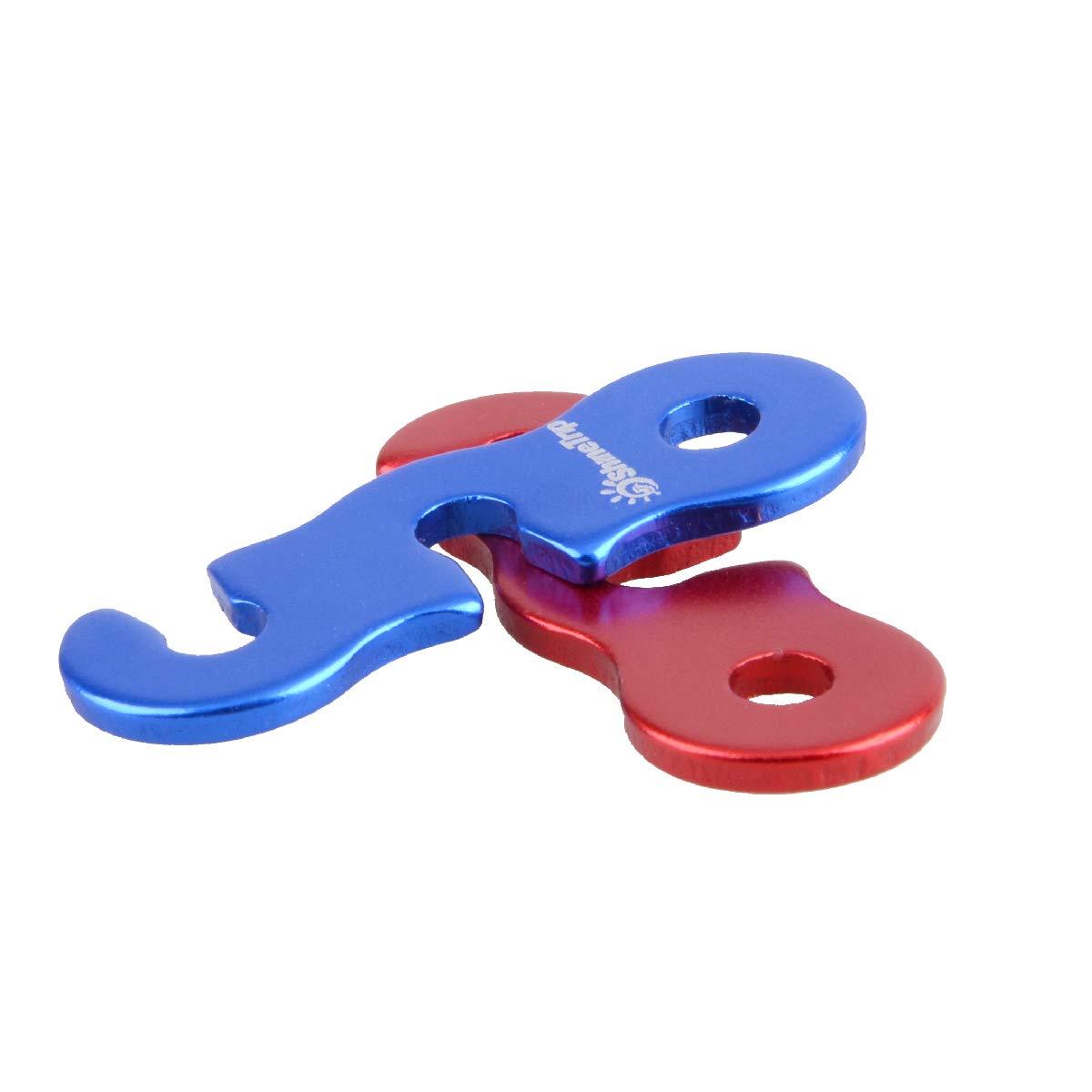 Azarxis Tensores de Cuerda para Tienda Aleaci/ón de Aluminio 12PCS Cuerda Paracord Ajustador de Guyline para Acampar