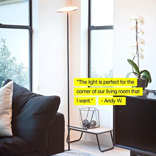 Brightech Kuler Floor Lamp - Light via iOs & Android App - Lamp Living & Pivoting - Black