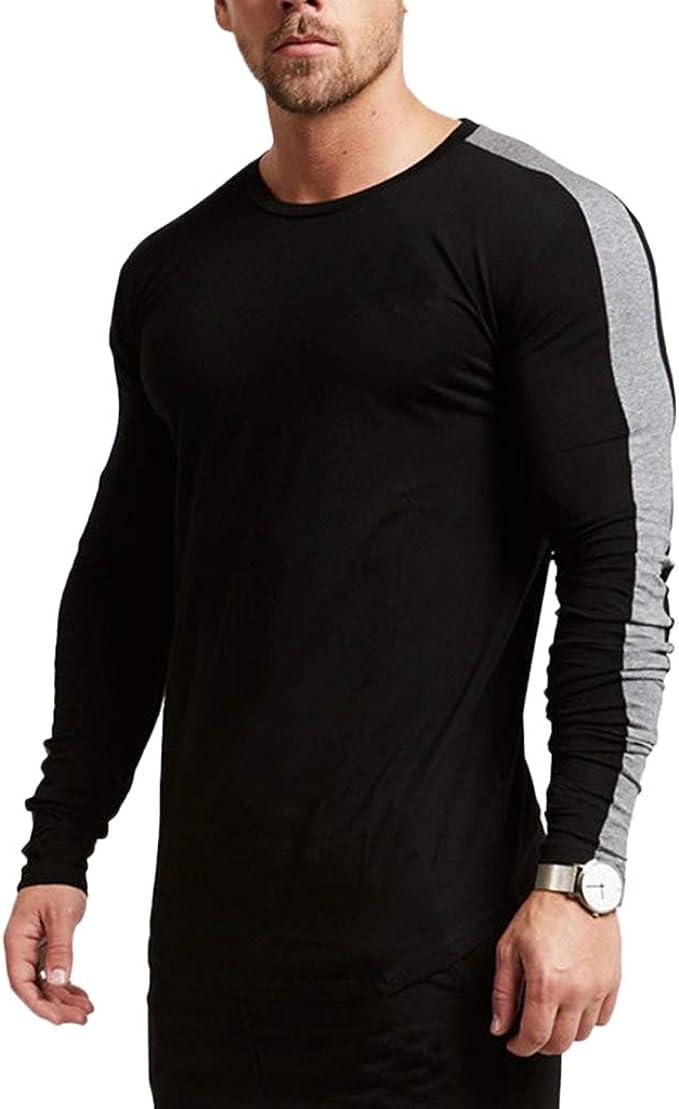 Magiftbox Mens Long Sleeve Raglan Pullover Sweatshirts Lightweight Active Gym Workout T-Shirts T13