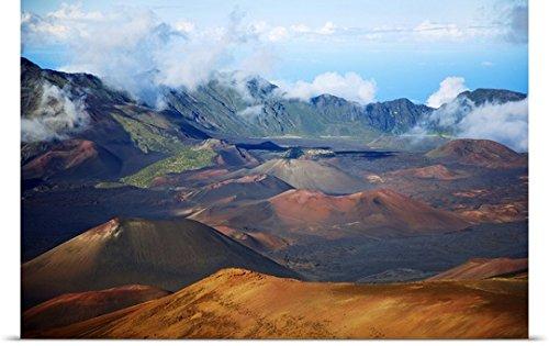 Ron Dahlquist Poster Print entitled Hawaii, Maui, Haleakala National Park, Haleakala Crater