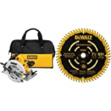 DEWALT DWE575SB 7-1/4-Inch Lightweight Circular Saw with Electric Brake with 7-1/4-Inch 60T Precision Finishing Saw Blade