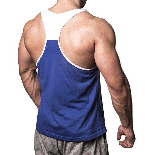 Iron Bull Strength Stringer Tank Top Bodybuilding Singlet Gym Sleeveless Shirt