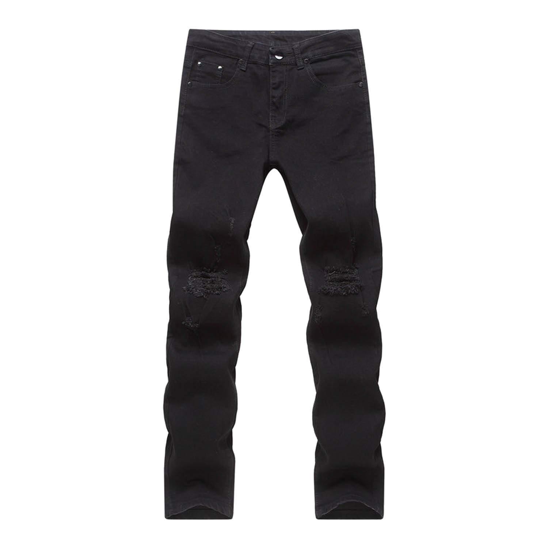 Amazon.com: Pantalones vaqueros para hombre con estampado ...