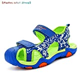 WETIKE Kids Sandals Summer Fisherman Sandals Fashion Running Sports Sandals Breathable Two-Strap Athletic Water Sandals Boy Comfortable Easy Walking
