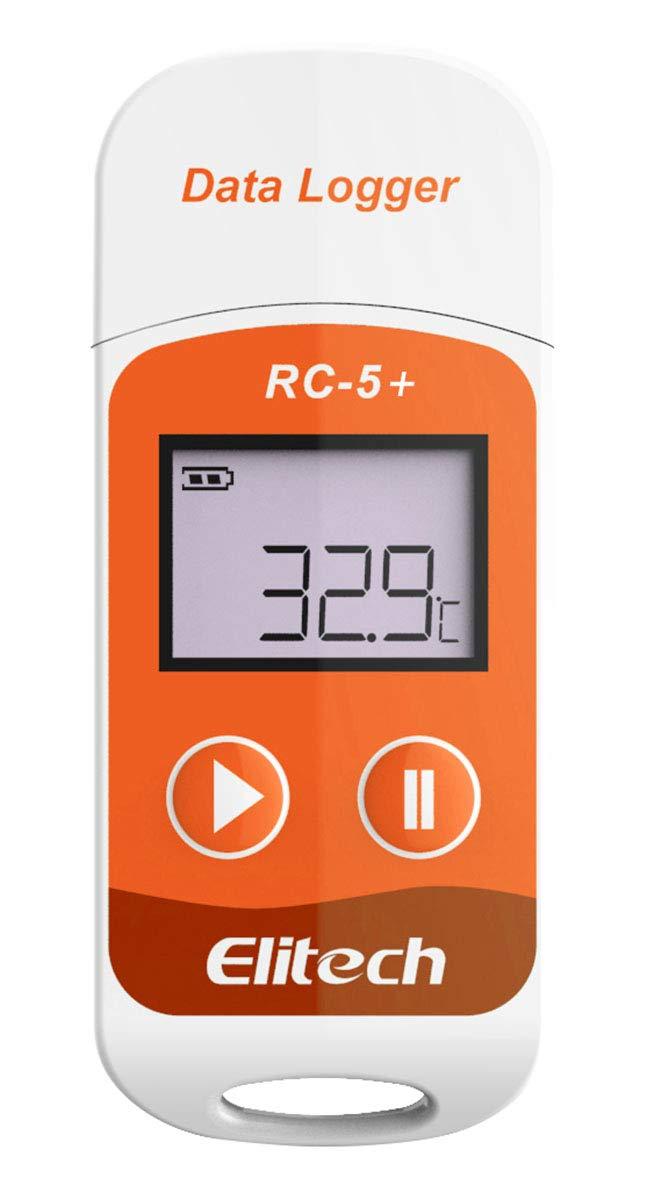 Elitech RC-5+ PDF USB Temperature Data Logger Reusable Recorder 32000 Points High Accuracy