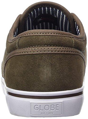 Globe Motley, Chaussures de Skateboard Homme, Vert (Marron Walnut/White), 41 EU