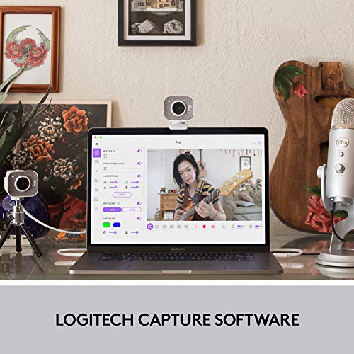 Logitech StreamCam, 1080P HD 60fps Streaming Webcam with USB-C and Built-in Microphone, White