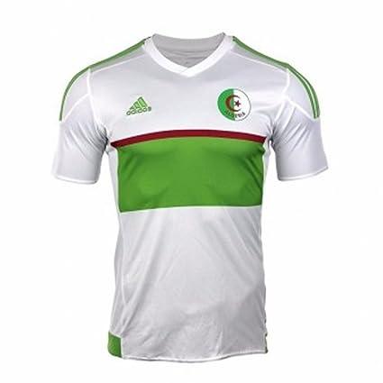 f141a9bf0 Amazon.com   adidas 2017-2018 Algeria Home Football Soccer T-Shirt Jersey    Sports   Outdoors