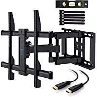 Perlesmith Full Motion Dual Articulating Arm TV Wall Mount