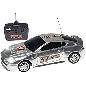 Top Race® Aston Martin 4ch Rc Remote Control Car – Racing Car with Lights Blue