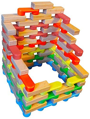 (Magz combo Bricks 80 Magnetic Building Blocks consisting of 40 standard Bricks and 40 wooden Bricks)