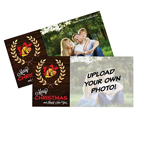 Print A Christmas Card - Upload Your OWN Photo Holiday Cards - 50 Thick 4